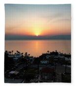 Sunset At Galilee Fleece Blanket