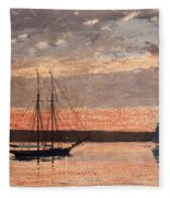 Sunset At Gloucester Fleece Blanket