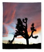 Sunset At Joshua Tree 2 Fleece Blanket