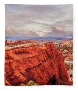 Sunset At Kodachrome Basin State Park Panorama Fleece Blanket