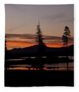 Sunset At Lake Almanor 02 Fleece Blanket
