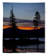 Sunset At Lake Almanor Fleece Blanket
