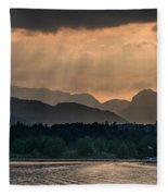 Sunset At Lake District Fleece Blanket