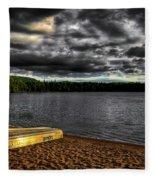 Sunset At Nicks Lake Fleece Blanket
