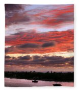 Sunset At Pass A Grille Florida Fleece Blanket