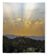 Sunset At Pastelero Near Villanueva De La Concepcion Andalucia Spain Fleece Blanket