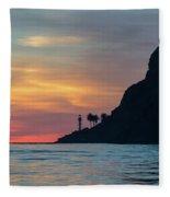 Sunset At Point Loma Fleece Blanket
