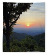 Sunset At Purgatory Mountain Fleece Blanket