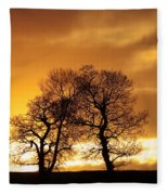 Sunset At Redhill Fleece Blanket