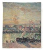 Sunset At Rouen Fleece Blanket