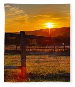 Sunset At Scartaglen Ireland Fleece Blanket