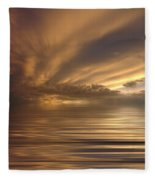 Sunset At Sea Fleece Blanket