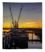 Sunset At Skippers Fish Camp Fleece Blanket