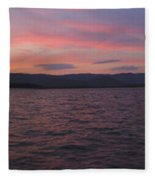 Sunset At Squam Lake New Hampshire Fleece Blanket