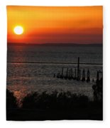 Sunset At St.marks Nwf Fleece Blanket
