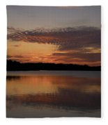 Sunset At The Gulf Of Bothnia 4 Fleece Blanket
