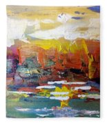 Sunset At The Lake Fleece Blanket