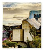 sunset at the marques de riscal Hotel - frank gehry Fleece Blanket