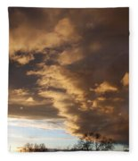 Sunset At The New Mexico State Capital Fleece Blanket