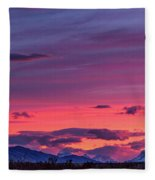 Sunset At The Ranch #2 - Patagonia Fleece Blanket
