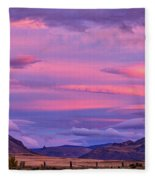 Sunset At The Ranch - Patagonia Fleece Blanket
