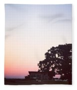 Sunset At The Winery Fleece Blanket