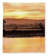 Sunset At Triabunna Tasmania Fleece Blanket