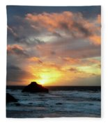 Sunset Bandon By The Sea Fleece Blanket