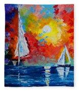 Sunset Bay Fleece Blanket
