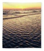 Sunset Beach In Florida Paradise Fleece Blanket