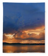 Sunset Blues Fleece Blanket