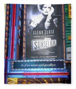 Sunset Boulevard On Broadway Fleece Blanket