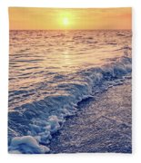 Sunset Bowman Beach Sanibel Island Florida Vintage Fleece Blanket