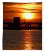Sunset Bridge Fleece Blanket