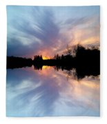 Sunset Brushstrokes Fleece Blanket