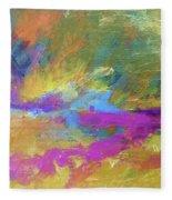 Sunset Burst Fleece Blanket