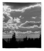 Sunset Bw Fleece Blanket
