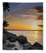 Sunset Caribe Fleece Blanket