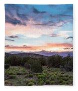 Sunset Cerillos Fleece Blanket
