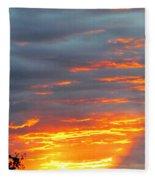 Sunset Christchurch New Zealand Fleece Blanket
