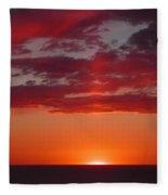 Sunset Cliffs Fleece Blanket