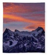 Sunset Clouds At Cerro Paine Grande #3 - Chile Fleece Blanket