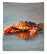 Sunset Crab Fleece Blanket