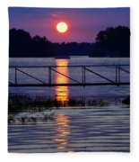 Sunset Cruise Fleece Blanket