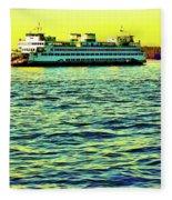 Sunset Cruise On The Ferry Fleece Blanket
