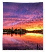 Sunset Culpeper Va Fleece Blanket