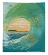 Sunset Curl Fleece Blanket