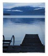 Sunset Dock At Priest Lake Fleece Blanket
