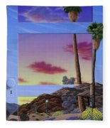 Sunset Door Fleece Blanket