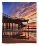 Sunset Drama Fleece Blanket